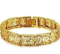 women's gold bracelet wide hollow out 18K glod bracelet wholesale jewelry free shipping