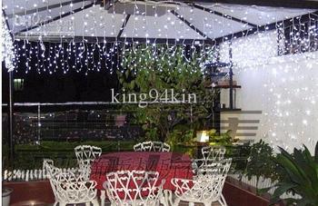 Free Shipping 320 LED Bulbs 10*0.55~0.65m Curtain Lights,Christmas ornament light,Fairy weddind icicle led light,