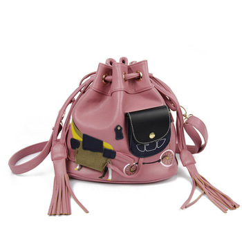 Women's handbag 2013 korean bag lapalette carriage bag small fresh tassel bag
