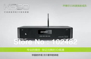 "Full 1080P 3D Blue ray HD Media Player Abdroid 2.2+KIUI KIUI4.0 1186DD Wifi 3.5""SATA Interface LED Display of KBe K690i"