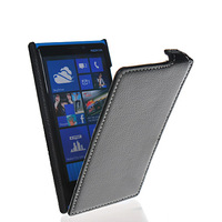 Litchi surface cover for Nokia Phi , Flip leather hard back case cover + screen for Nokia Lumia 920 Free shipping
