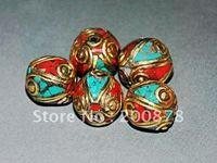 DIY Loose Beads  NBB264  Nepalese metal brass loose beads,12*13mm,vintage round loose spacers,best offer