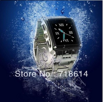 Hottest selling full touch screen stainless steel waterproof watch mobile phones, W818