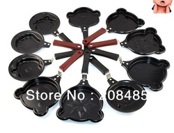 5pcs/lot New Arrival Egg Fryer Skillet Mini Fry Frying Pan Cookware Non-Stick Wholesale/Retail,mix several design(China (Mainland))