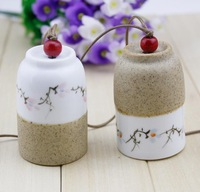 FREE SHIPPING!!!Ceramic crafts,Ceramic aeolian bells pendant,Family adornment