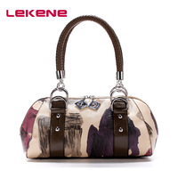 Women's handbag colored drawing bag ink and wash painting knitted vintage small bag belt fashion personality the trend handbag