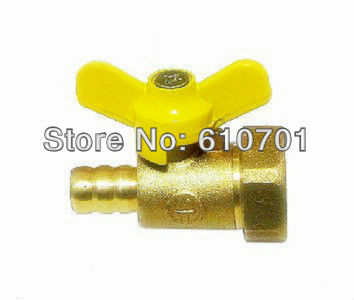 "1/2""BSPP Female x 10mm Hose Barb Connection Brass Coal/Natural Gas Ball Valve Two Way Plumbing Fittings Butterfly Handle Air(China (Mainland))"