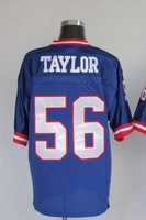 Free Shipping Wholesale&Retail Throwback American Football Jerseys #56 Lawrence Taylor Blue Jersey Embroidery Logo Mixed Order
