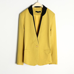 High quality 2013 women's slim OL outfit one button color block blazer outerwear blazer z (WC006)(China (Mainland))