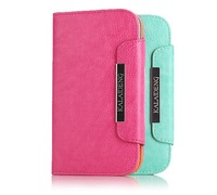 Fresh Style KaLaiDeng case for Samsung i9082 PU Leather caes and sheepskin Multi-function wallet  free shipping 10pcs/lot