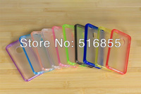 50pcs/lot TPU+PC matte Case transparent bumper For iphone 4 4S For iphone 5 5G,10 colors available  +  freeshipping