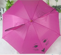 Free DHL Shipping 10pcs/lot lovely kid umbrella with whistle