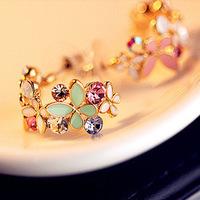 2014 11.11 Promotion  )Korean super fashion butterflies love flowers Earrings