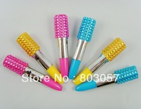 2013 Promotion Free shipping Fedex(100pcs/lot) Lovely Lipstick bling ball pen (Mixed colors)