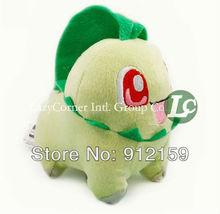 """Wholesale 30pcs/lot Pokemon toy Pikachu Soft Plush Doll stuffed animal Japanese anime 4"""" Chikorita Free Shipping(China (Mainland))"""