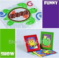 Foam Mosaic DIY Sticker Picture, Foam Tile Kids Handmade Sticker Puzzel, Creative Children Toys Free Shipping
