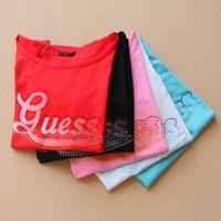 G diamond elastic t-shirt fashion women's slim
