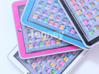 Free shipping,The New Mini Hi Pad english educational toy,with Blue,Pink,Black,White 4 colors Mixed,Music&Led Light ,50PCS/Lot