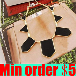 (Min order $5,can mix) Punk Geometric Irregularity Necklace Big Name Triangle Necklace Geometric Necklace Free Shipping(China (Mainland))