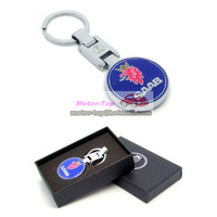 Pendant Keychain Key Chain Ring Chrome For Sweden Saab 9-3 9-5 9-7X 900 9-3X 9-4 Free Shipping High Quality Wholesale