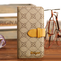 Free Shipping Newest High Quality Fashion Wallet PU Leather Flip Case For Apple iPhone 5 Cell Phone Stand Cover