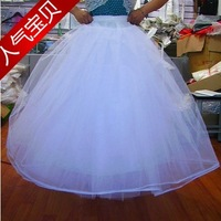 Boneless stretcher skirt bride wedding formal dress skirt w04 formal dress hard gauze natural wireless customize
