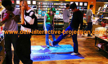 Free shipping Defi Interactive Floor/wall  Projection software  with 70 effects for kids amusement