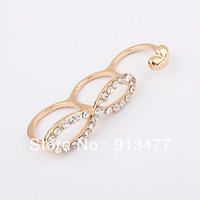 2013 New arrive Free shipping Europe and United States hot sell fashion jewelry ring Infinite character ring 10pcs/lot