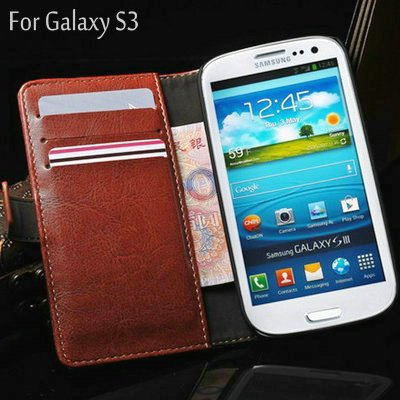 Retro Card Holder Walllet Leather Pouch Case for samsung galaxy S3 i9300 , PU with Stand Function ,Factory Direct Sale(China (Mainland))