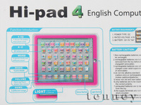 Free Shipping,Hi Pad 4 English educational toys,learning machine,Music & Light,Black\Pink\Blue\White 4 Colors,50PCS/Lot