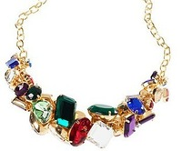 2013 NEW Fashion Color Shining Rhinestone Necklace Free Shipping