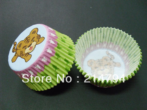 1000pcs/lot Cute Tiger Cupcake Liners Baking Paper Cups Cake Muffin Case Holder Base 50mm For Birthday Kids Favor Free Shipping(China (Mainland))