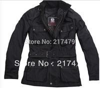 man windproof waterproof wax cotton batik  bel with shell vest motor jacket