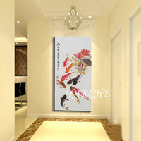 Feng Shui fish - pure oil painting picture frame decorative painting entranceway