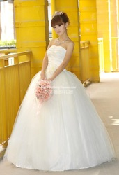 free Shipping 2013 wedding suzhou wedding dress white wedding dress Fashion sexy high quality long trailing marriage gauze(China (Mainland))