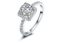 RlEESHIPPING!! Ladies 925 silver rings Wedding ring Main stone:1.75ct