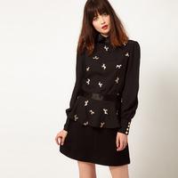 Женские блузки и Рубашки Women Print Chiffon Shirt 8948