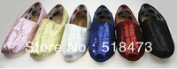 2013 spring flash sequins soft bottom cloth shoes casual shoes for women's shoes, 6 color Free shipping
