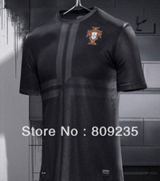 ^_^ Thai top quality Portugal black 13/14 seasons palyer version thailand A+++ soccer jerseys free shipping shirts