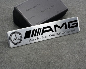 Metal Rear Side Emblems Badge Sticker Mercedes Benz ///AMG AMG SLK Web Special Free Shipping High Quality Wholesale