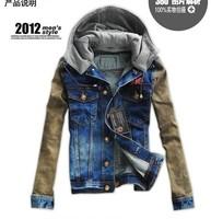 2013 new design fashional  jeans coat men,jacket men,Free shipping