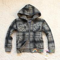 Winter small child berber fleece jacket zipper outerwear 110 - 160