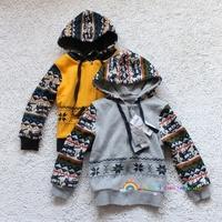 National trend zipper outerwear thickening sweatshirt child outerwear 110 - 160