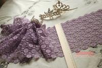 trim lace cutout bilateral decoration 18cm  purple