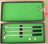 Mini golf driving range Mini table golf Set Golf gift set pen