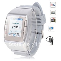 Luxurious N688 Watch Phone Quad Band Single SIM with Touch Screen FM Bluetooth - Silver