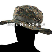Military Army Round-brimmed Hat Sun Bonnet Digital Woodland Camo Outdoor Cap for Fishing Hiking NCA-13456