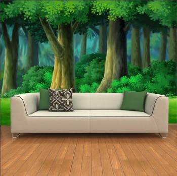 2013hotGreen deep forest the large frescoes bedroom background wall / TV backdrop / sofa backdrop wallpaper wallpaper