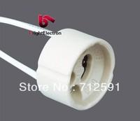 Free Shipping Ceramic GU10 MR16 Spotlight Holder Base Socket Wire Connector fitting Kit Base GU10 Holder