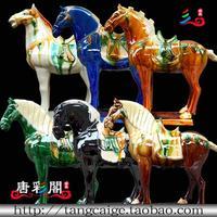 Horse horse home decorations ceramics commercial
